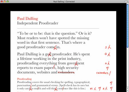 Stet proofreading